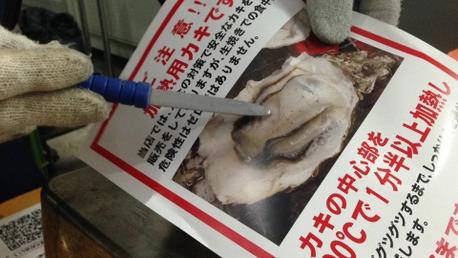 牡蠣の貝柱の説明なのだ