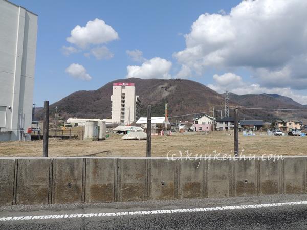 石和温泉病院の前の景観
