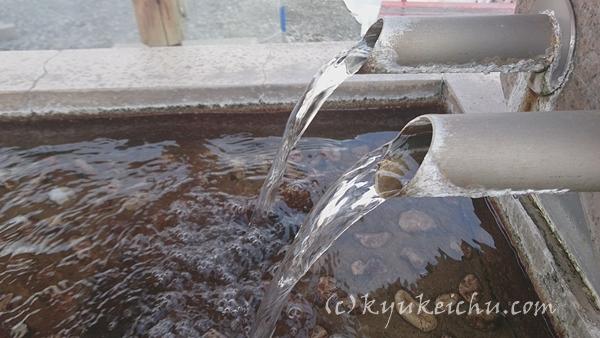 露天のかけ流しの温泉